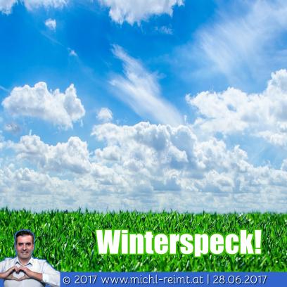 Gedicht: Winterspeck!