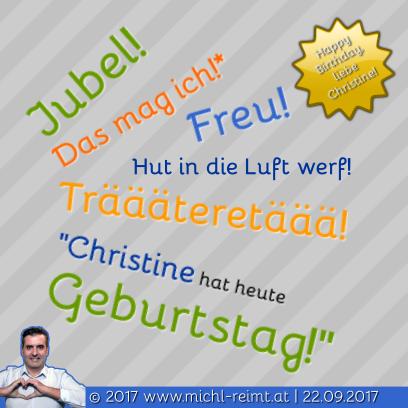 Gedicht: Happy Birthday Christine!