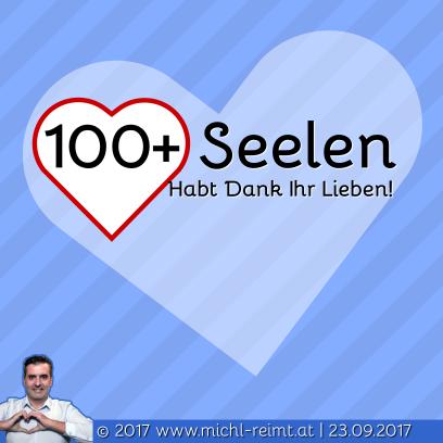 Gedicht: 100+ Seelen❤️!