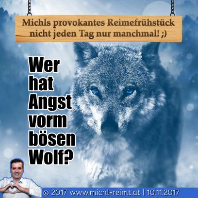 Gedicht Böser Wolf Michl Reimt