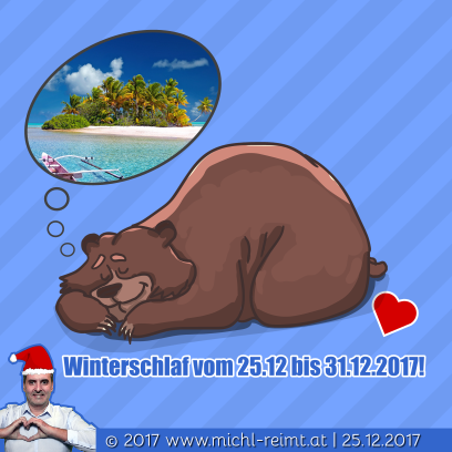 Gedicht: Winterschlaf 2017!